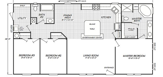 Floor plans for fleetwood manufactured homes house for Fleetwood homes floor plans