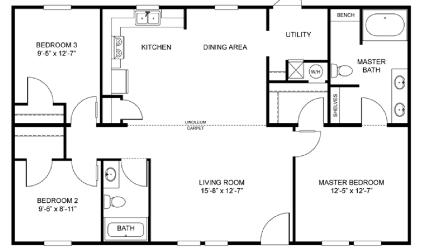Log Cabin Mobile Home Floor Plans further Singlewide Floor Plans as well 1997 Redman Mobile Home moreover Single Wide Mobile Home Floor Plans together with Floorplans. on skyline single wide mobile homes